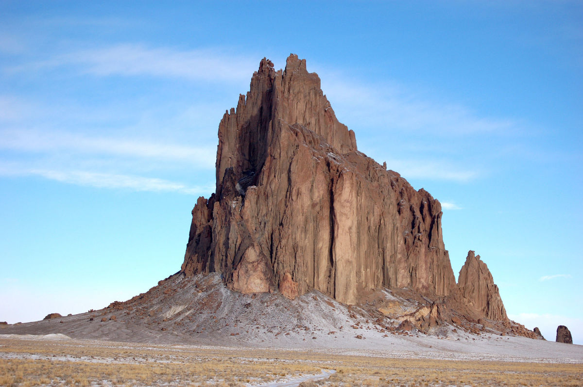 Shiprock, New Mexico, is the site of a 72 acre, 2.7 million ton pile of mine tailings.