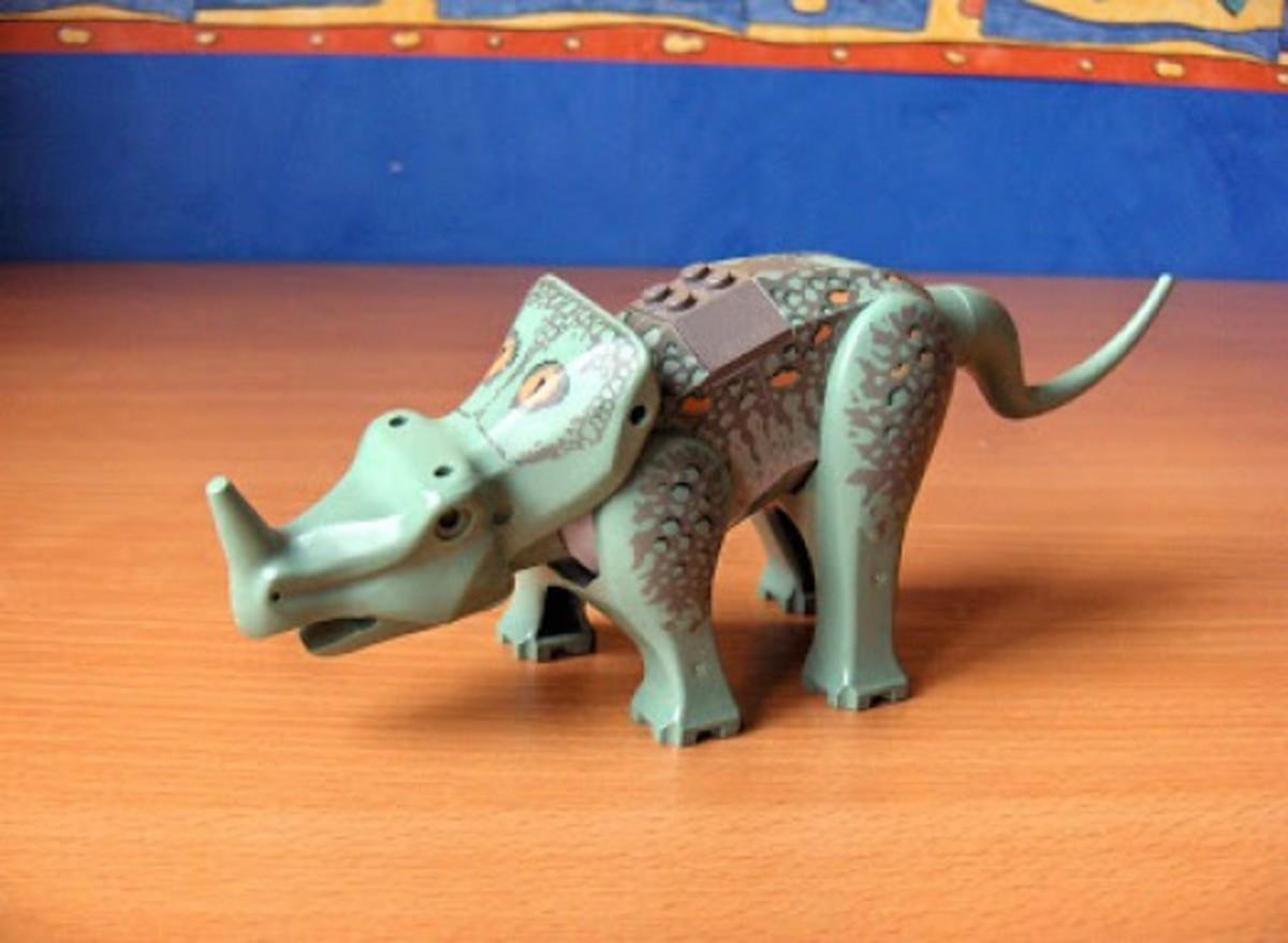 LEGO Dinosaurs Centrosaurus 6722 Assembled