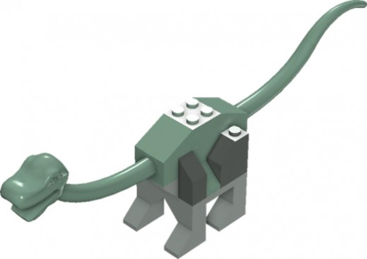 LEGO Dinosaurs Baby / Young Brachiosaurus 5952 / 7002 Assembled