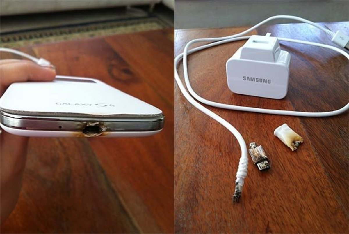 Samsung has been getting some bad press lately with battery and charger accidents.