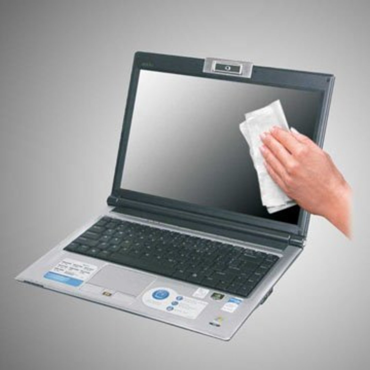 Clean your device with a clean,dry and soft white cloth