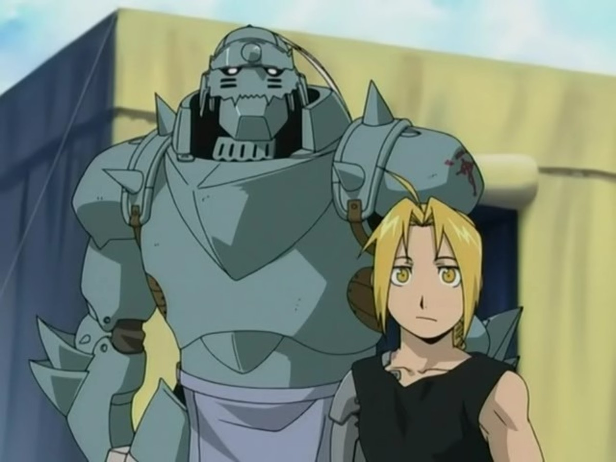 The Elric brothers from Full Metal Alchemist and Full Metal Alchemist Brotherhood