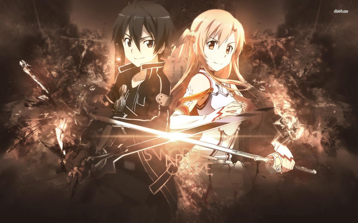 Asuna and Kirito from Sword Art Online