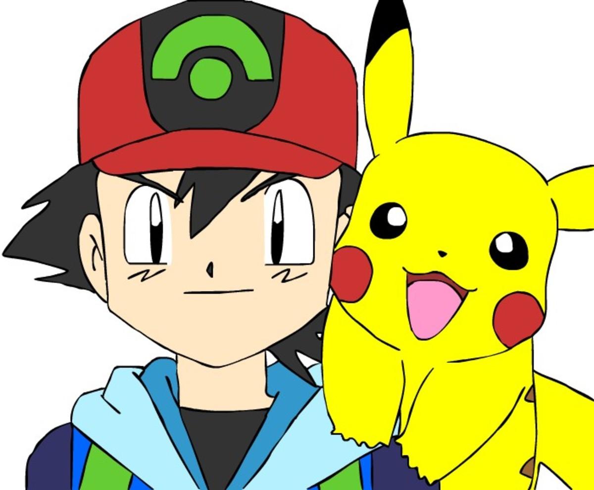 Ash and Pikachu from the many, many Pokémon seasons