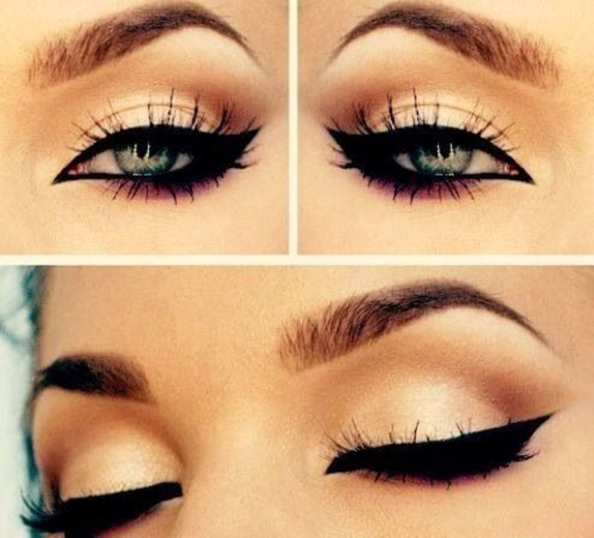 Simple winged eyeliner guide!