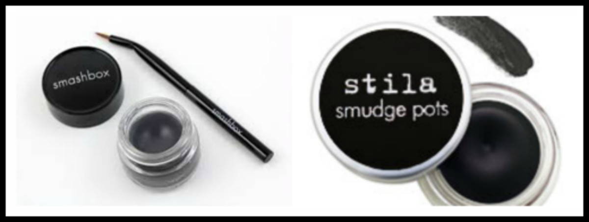 Smashbox Jet Set Waterproof Eyeliner & Stila Smudge Pots