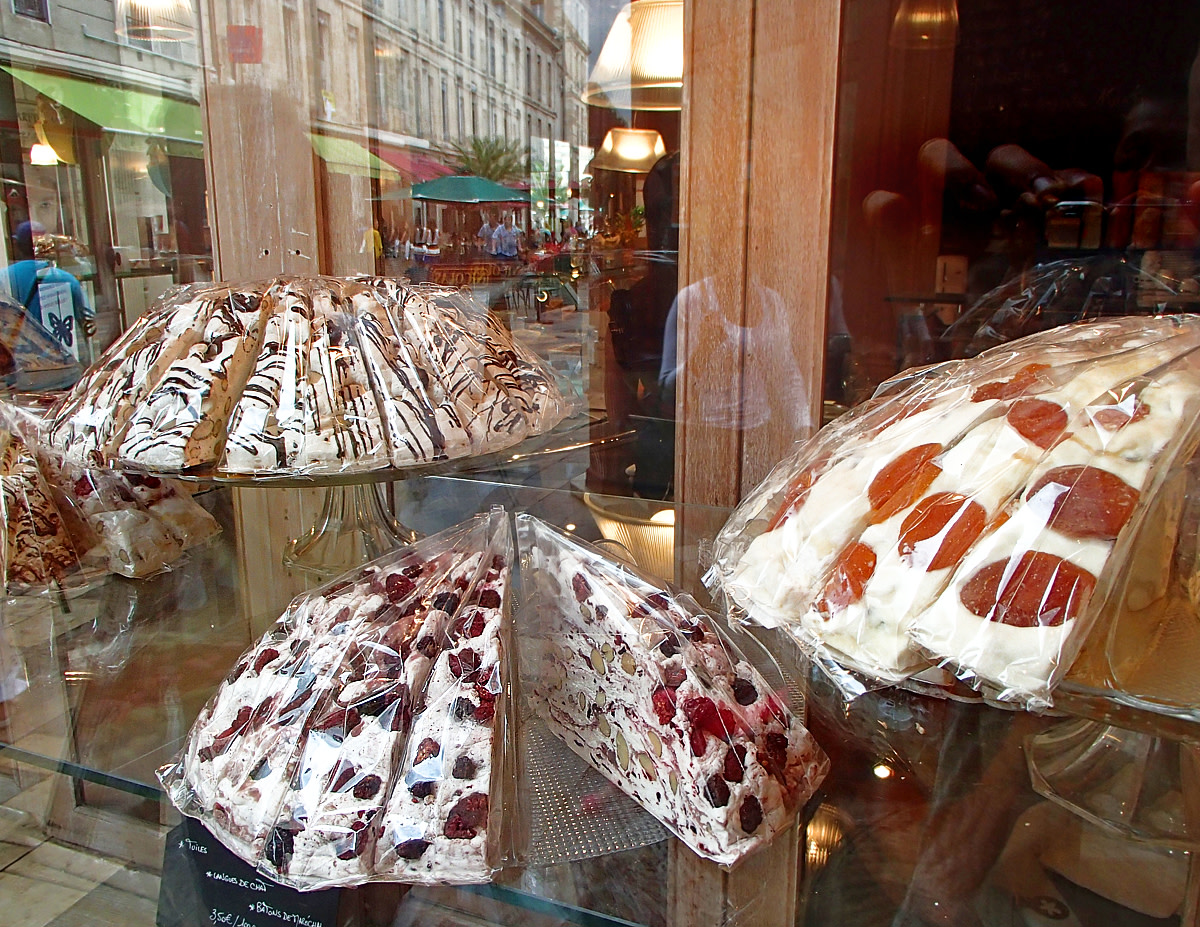"""Nougat"" confections - made of sugar, nuts, candied fruits - are popular in France since early 18th century."