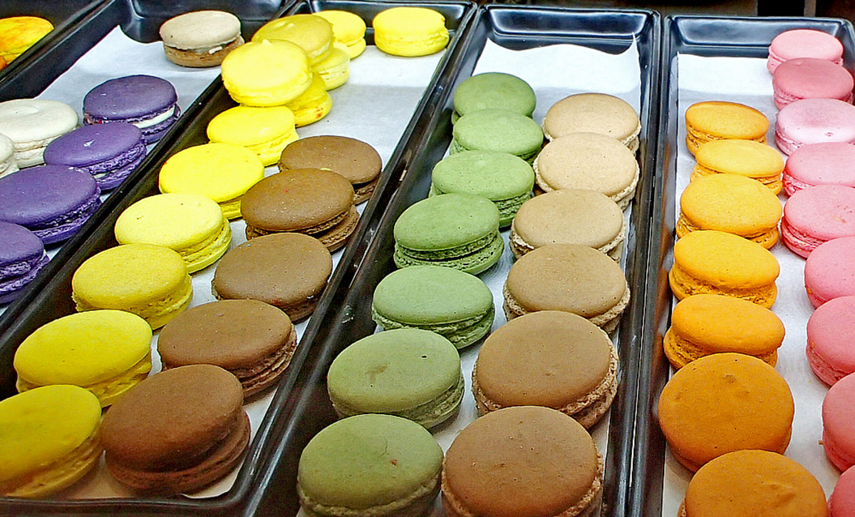 Macarons in all imaginable flavors.