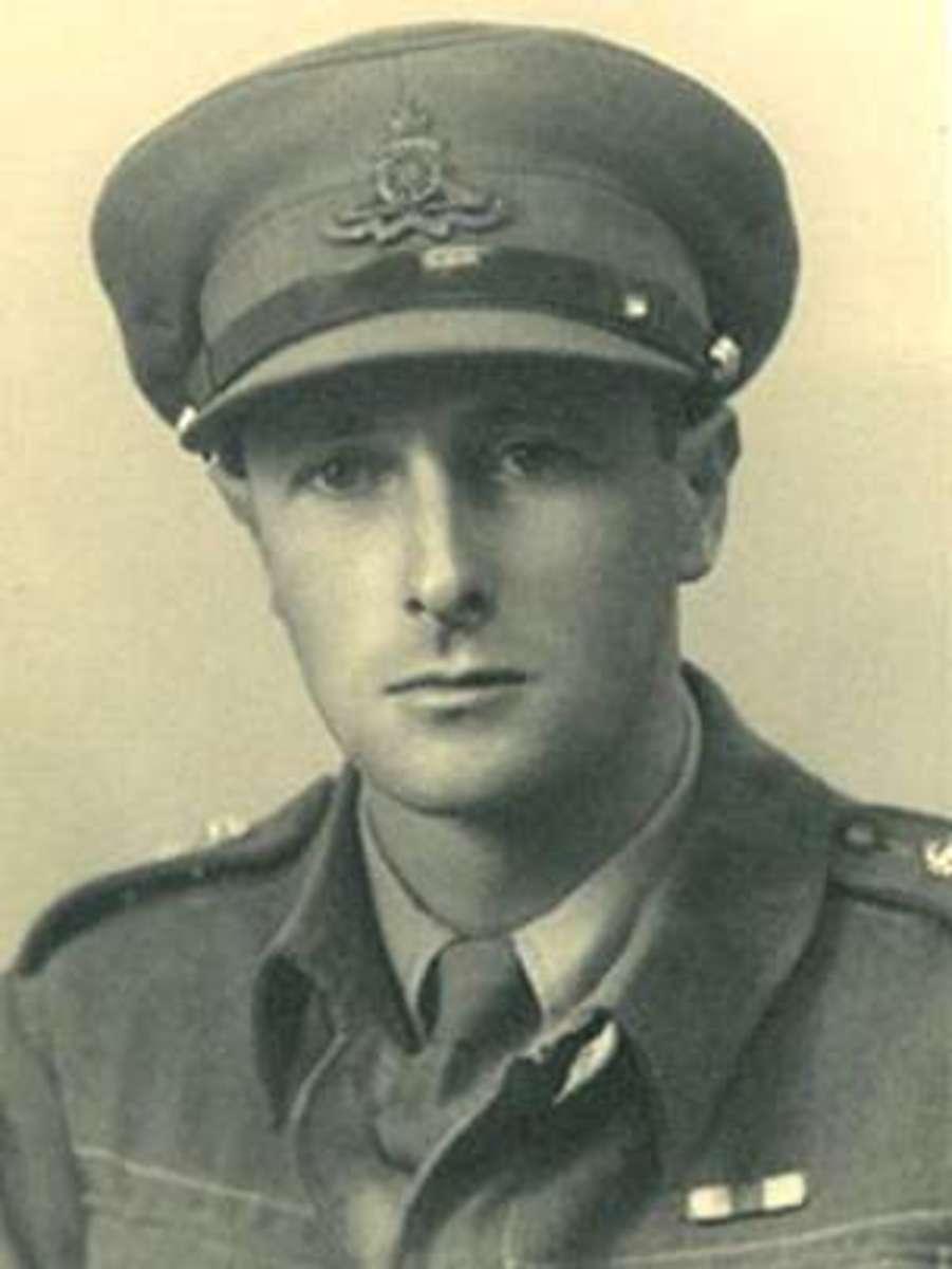 Antony Clarke wearing the uniform of the British RHA