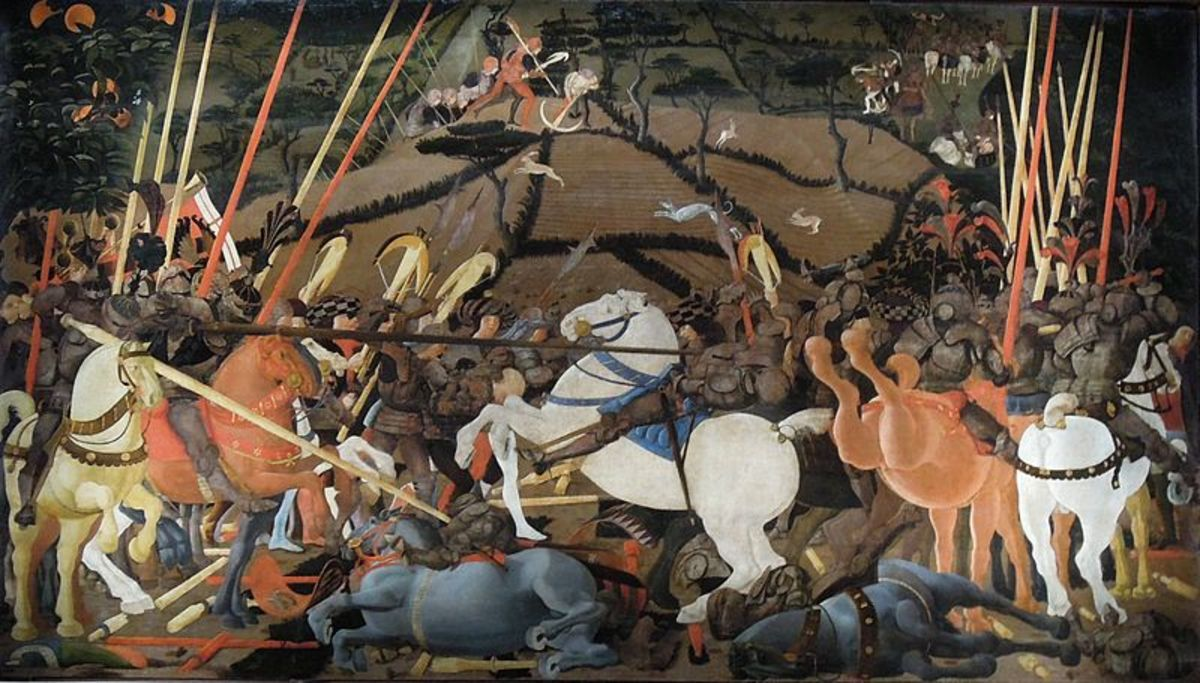Paolo Uccello, The Battle of San Romano (a.  1440) Florence Uffizi