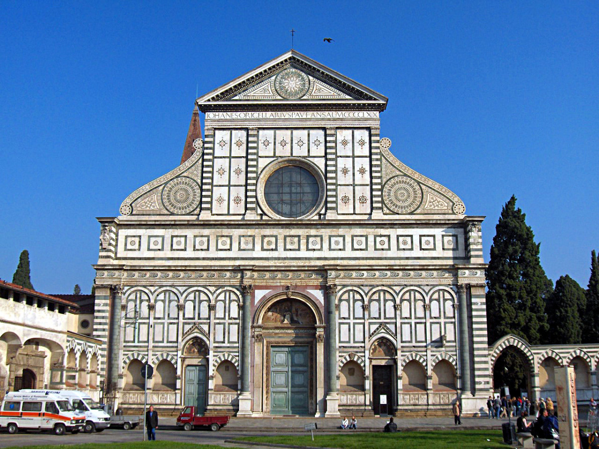 Leon Battista Alberti, Front of the Church of Santa Maria Novella (XV century), Florence