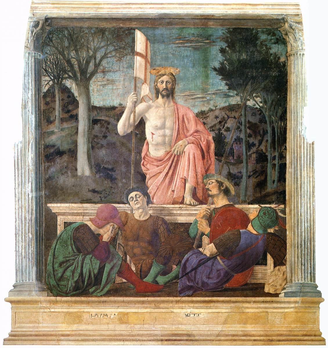 Piero della Francesca, Resurrection of Jesus Christ (1450 - 1463), Sansepolcro (AR) Museo Civico