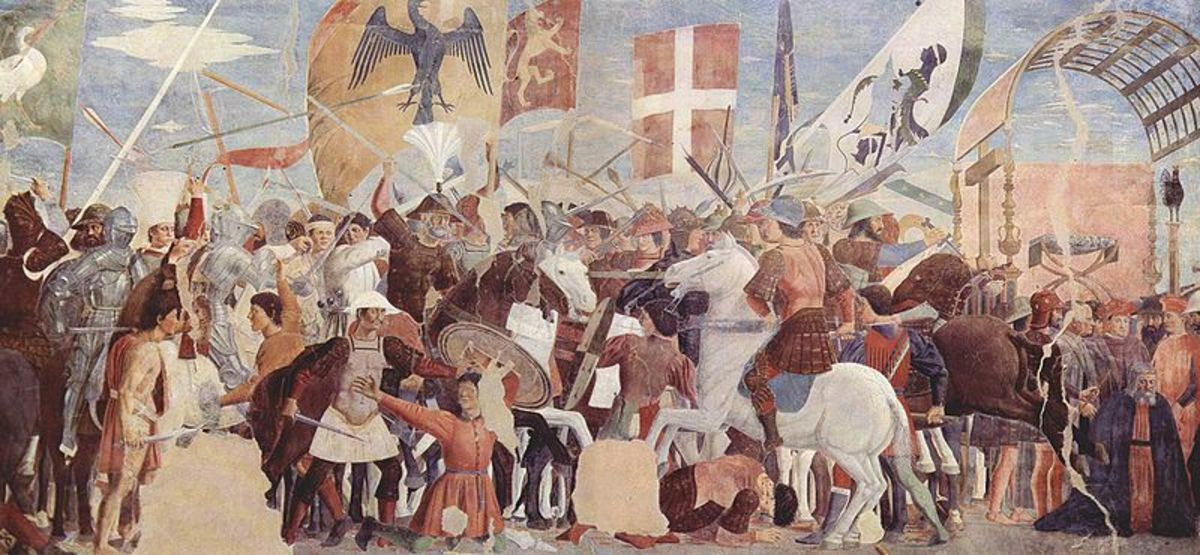 Piero della Francesca, Legend  of the True Cross (the Battle of Heraclius and Khosrau) (a. 1465), Arezzo Church of San Francesco