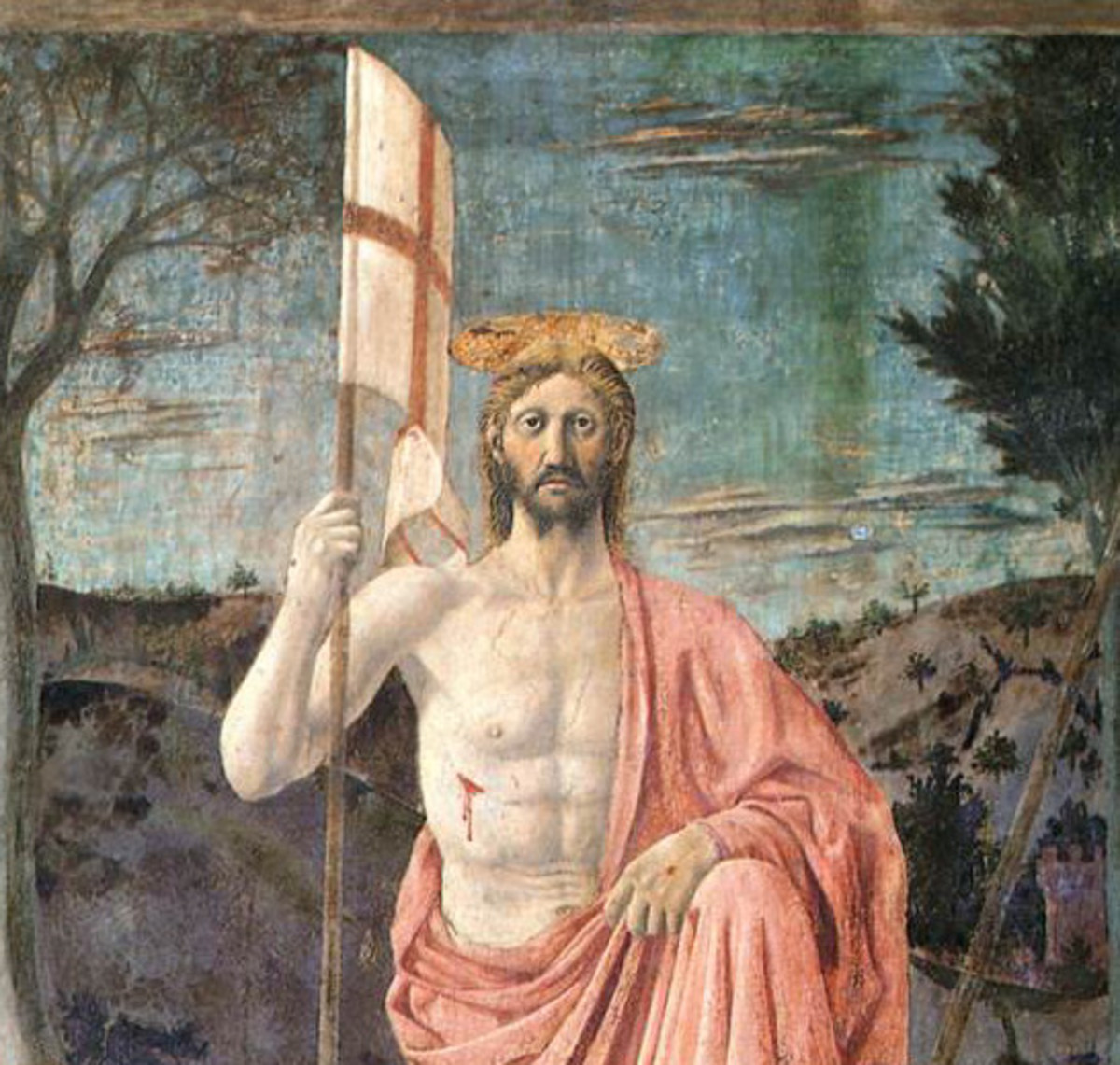 Piero della Francesca, Resurrection of Jesus Christ (1463) - Detail, Sansepolcro (AR) Museo Civico