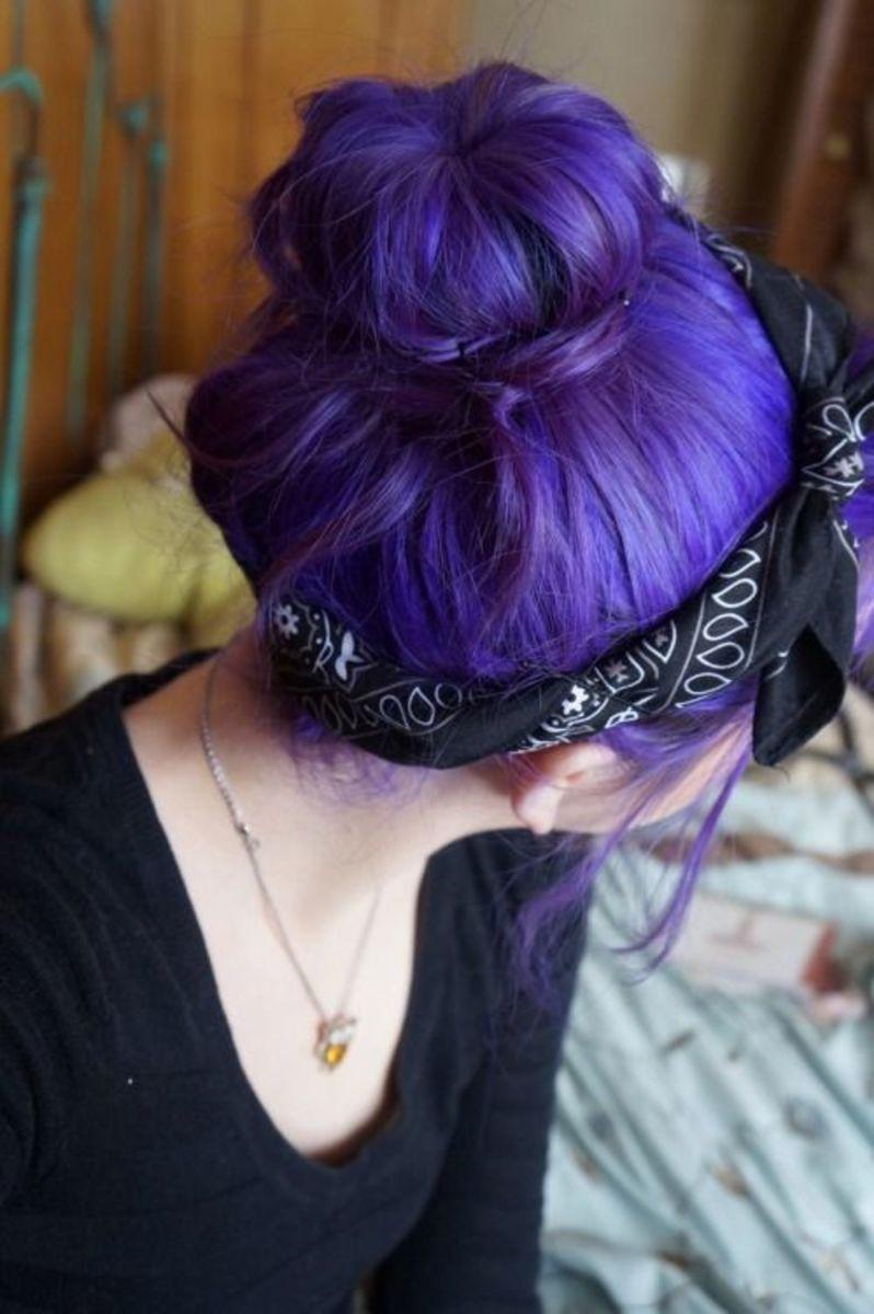 diy hair 10 purple hair color ideas hubpages. Black Bedroom Furniture Sets. Home Design Ideas