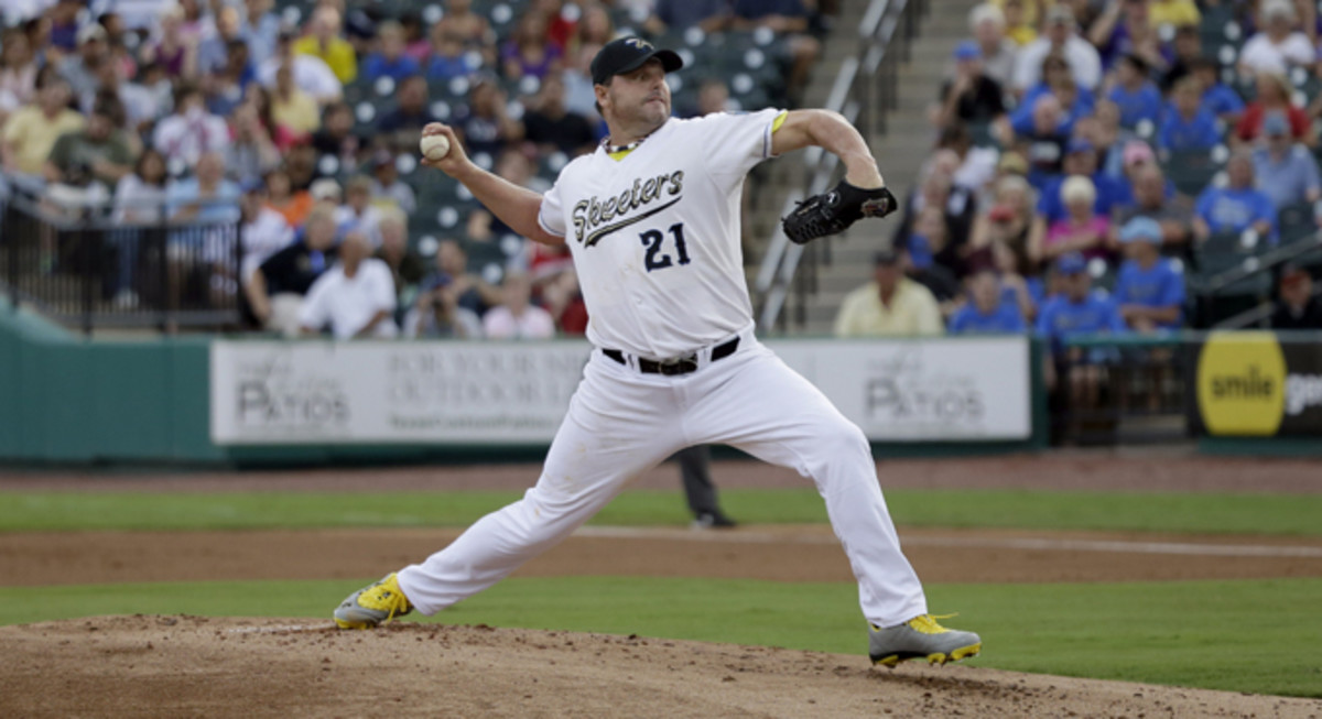 Roger Clemens loved baseball so much that when he retired, he had to find someone to pitch for. He just kept playing, giving youngsters a chance to bat against the greatest there ever was.