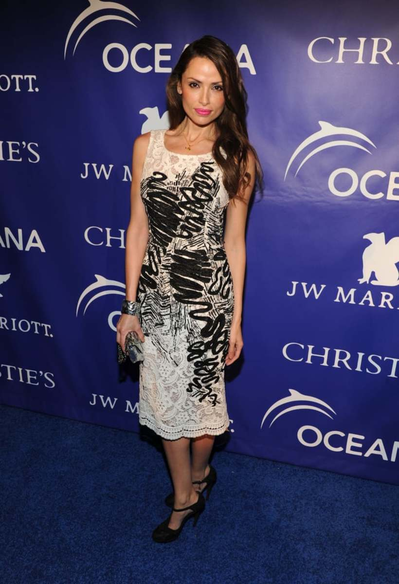 Spanish fashion model Almudena Fernandez is seen here at the inaugural Ocean Ball in New York City in 2013.