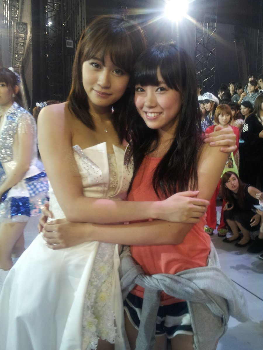 Miyuki Watanabe (right) is pictured here with Atsuko Maeda back in August 2012. Maeda graduated from AKB48 after seven years with the group.