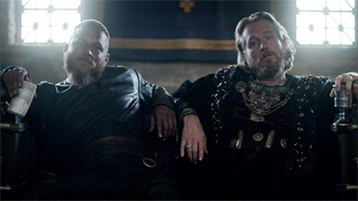 King Ragnar and King Egbert. A fragile alliance beneath a signed treaty