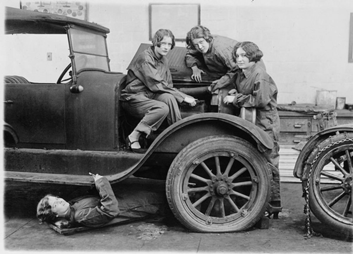 With so many shady auto mechanics operating today, you would be better off with the crew in this photo working on your car