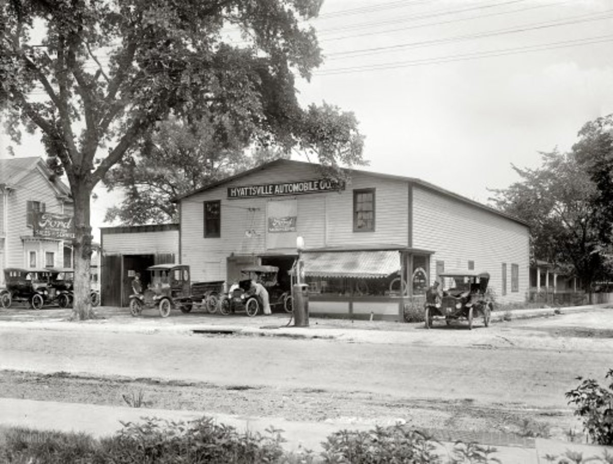 Prince Geoge County,  Maryland, circa 1920  Hyattsville Automobile  Company