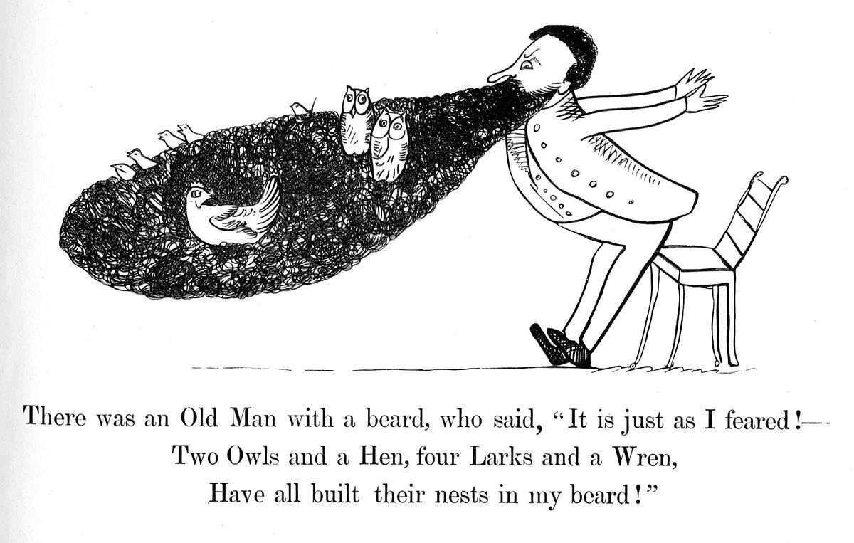 Limerick No1 from Lear's Book of Nonsense (1846)