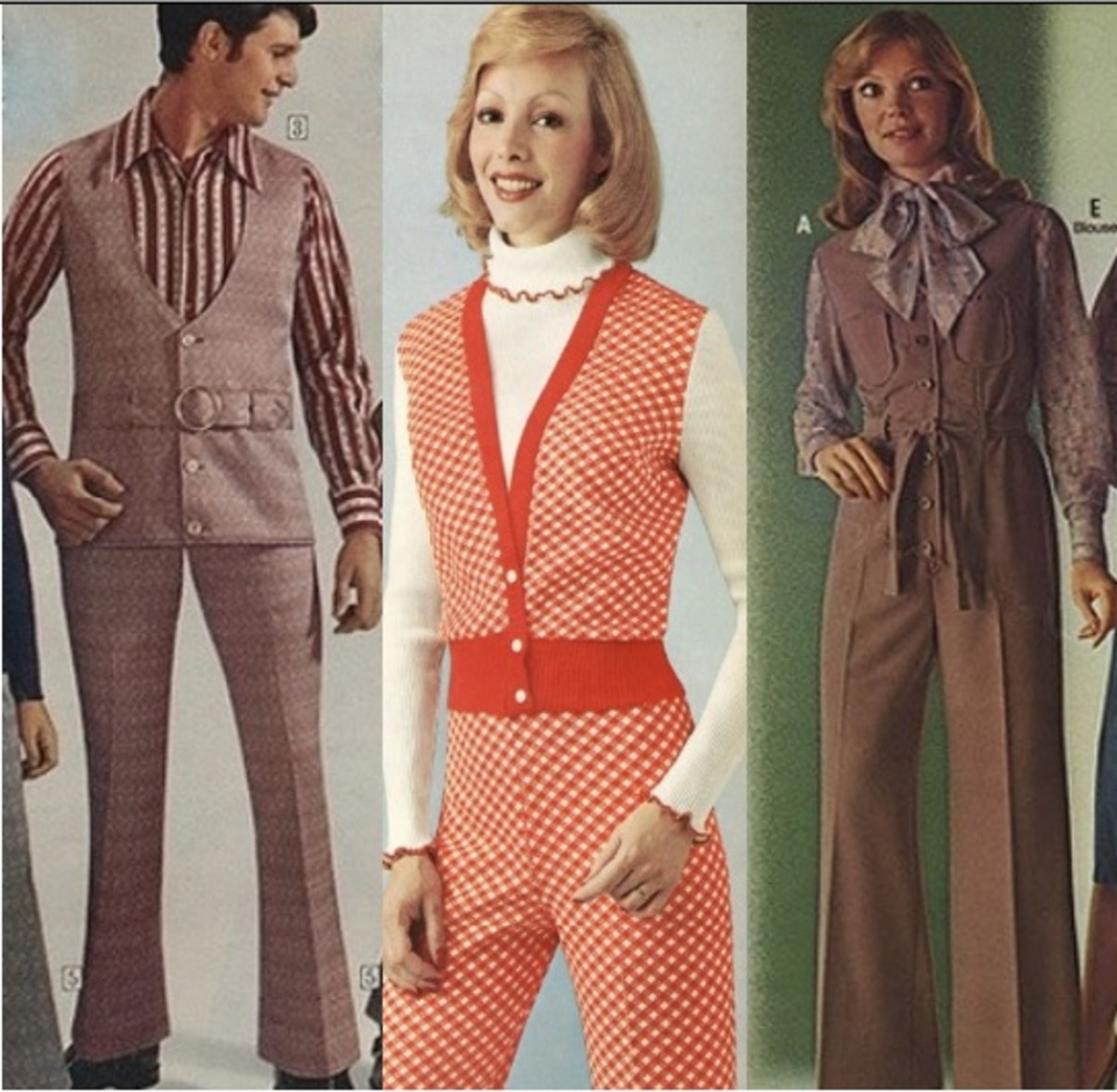 Far-out 70s adult vest suits
