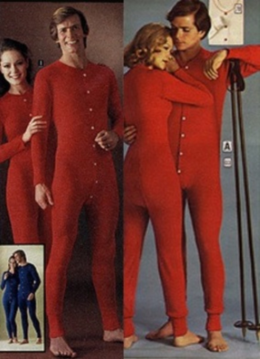 His and her onesies in red and blue
