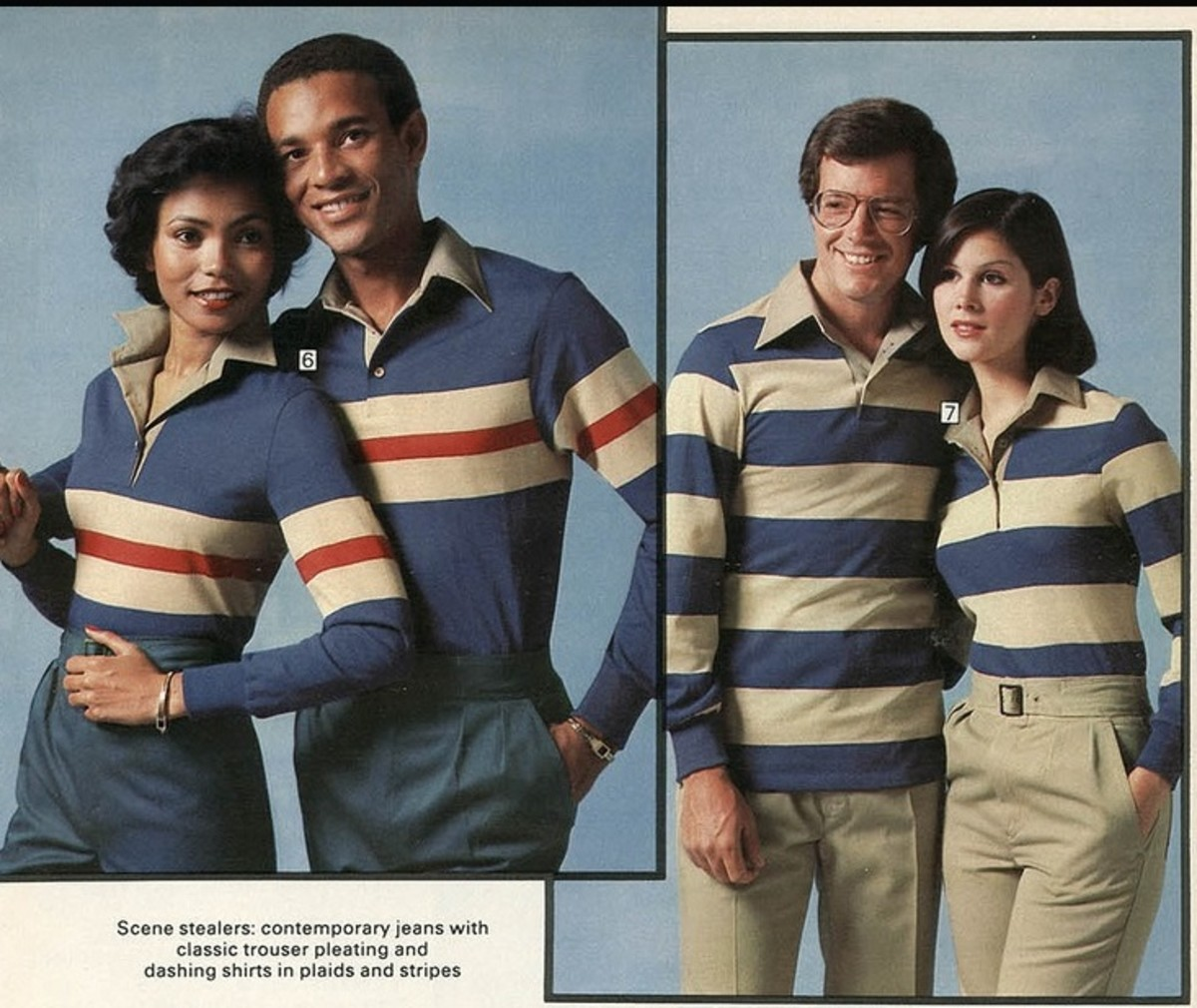 His and hers matching polos and pants, forgotten 70s fashion trends