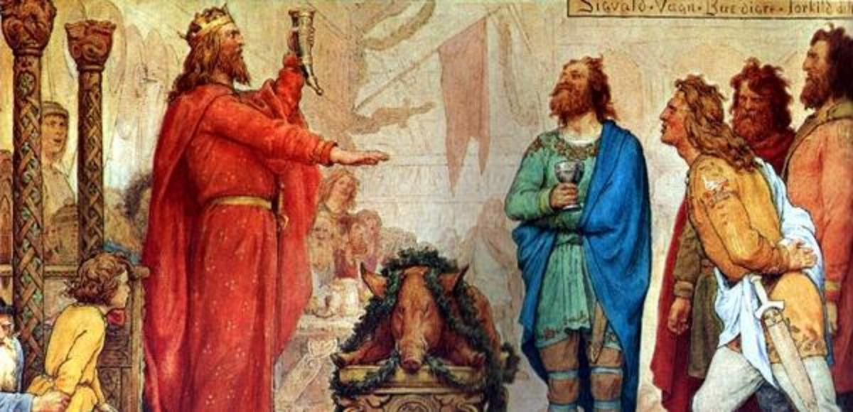 Svein Haraldsson, 'Forkbeard' had ousted his father before turning to bleeding Aethelred's coffers. A desire for the kingship brought him to land in the old Danelaw in AD 1013