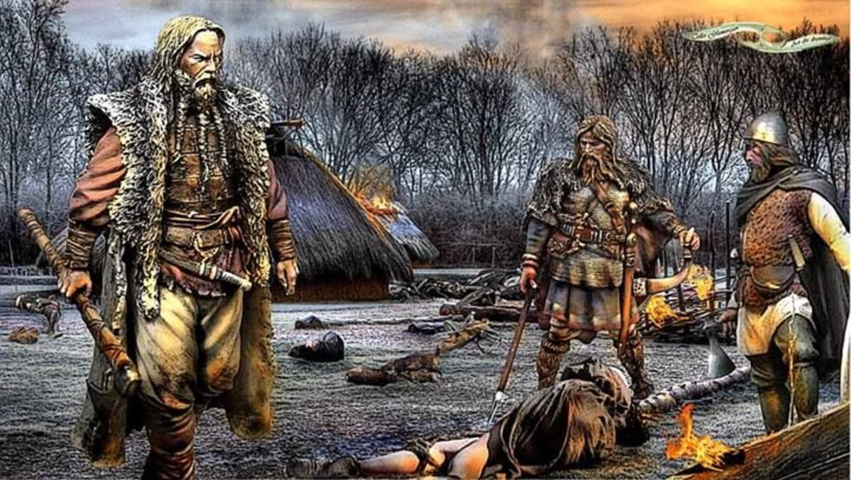 On the rampage - to ensure those they mastered knew they had been, the Danes burned and looted in Wessex. As it turned out, they would never master Wessex itself but nor was Aelfred able to master them