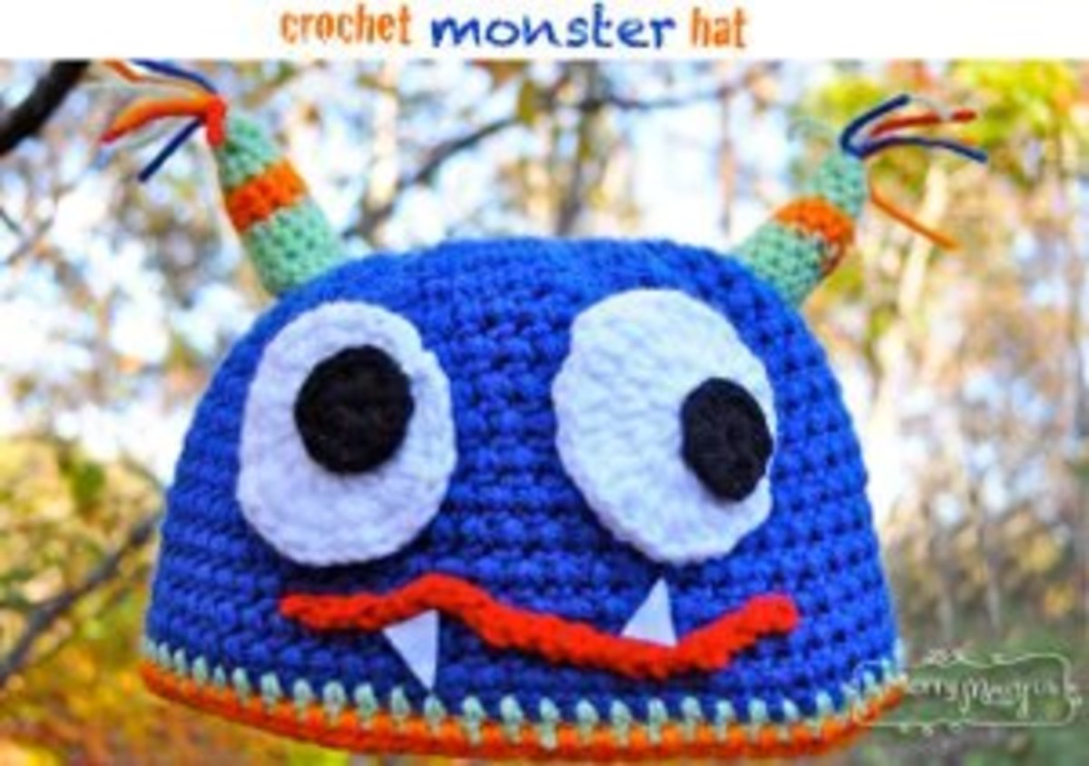 From 18 months to ten years your little one will look fabulous wearing this Crochet Monster Hat