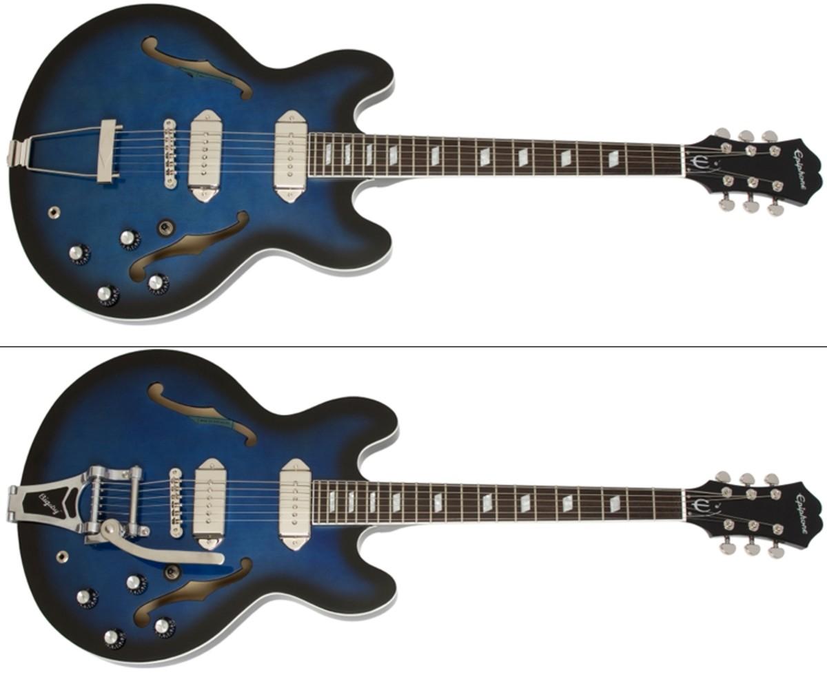 "Epiphone introduces the two Gary Clark Jr. ""Blak and Blu"" Casino guitars"