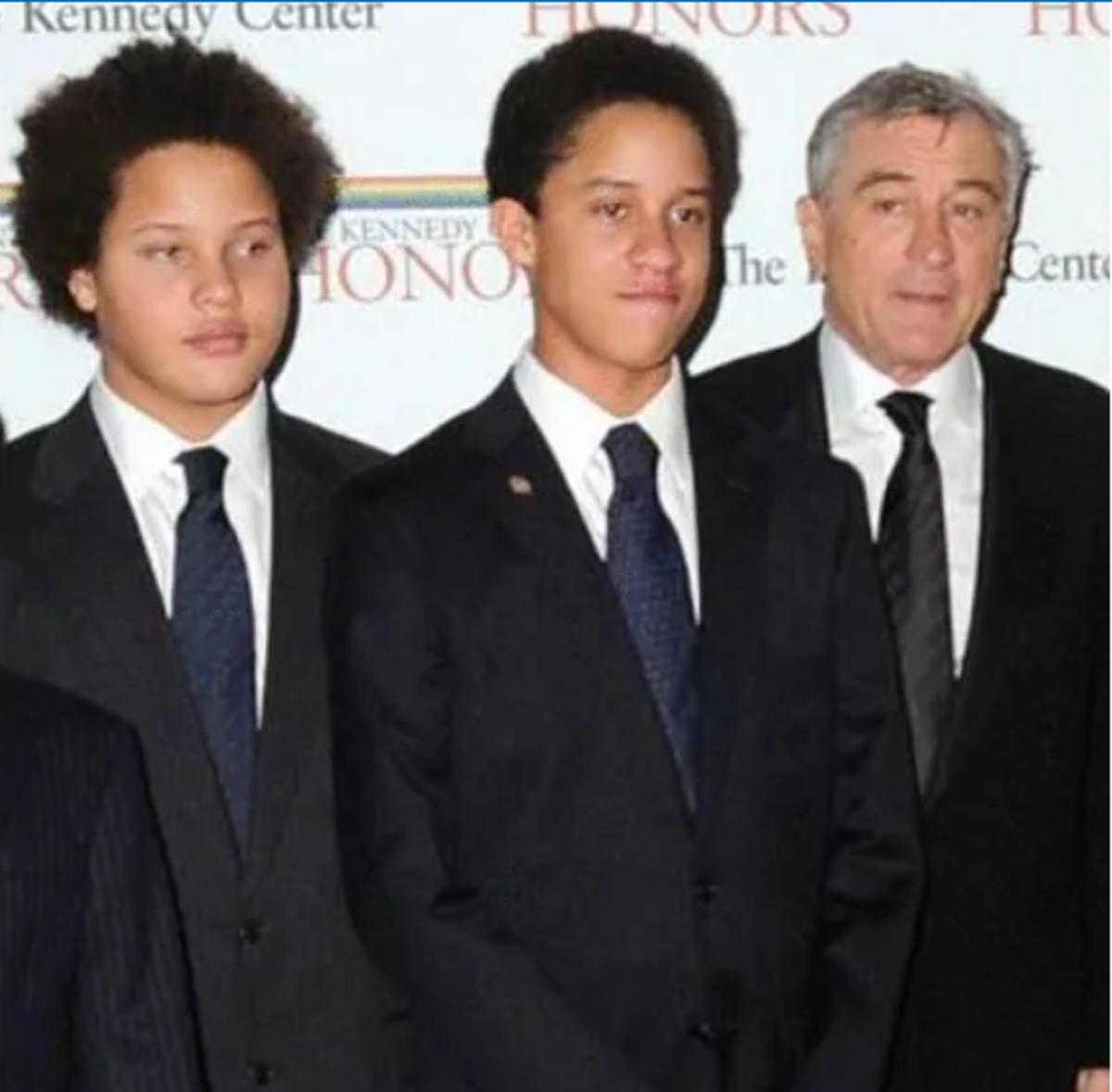Robert De Niro with his two sons, Aaron and Julian.