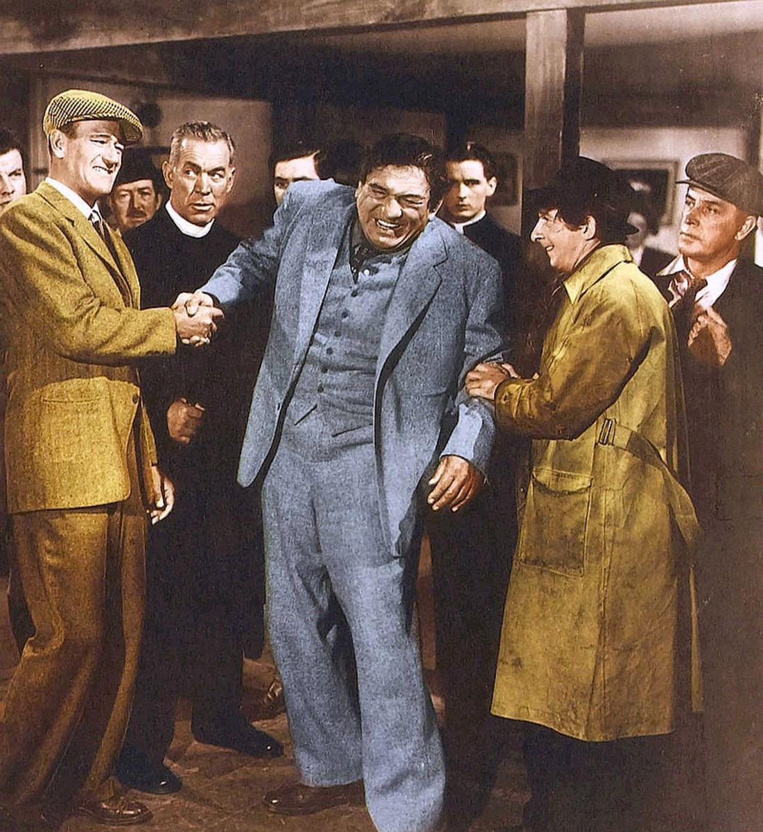 John Wayne and Victor McLaglen in The Quiet Man.