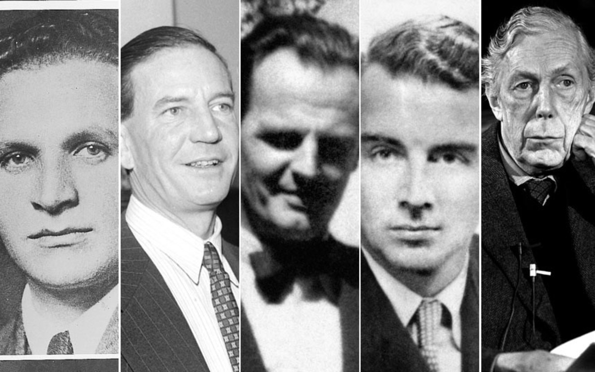 The 'Cambridge Five': Arnold Deutsch the NKVD recruiter in 1930s Cambridge, Kim Philby, Donald MacLean, Guy burgess and Anthony Blunt