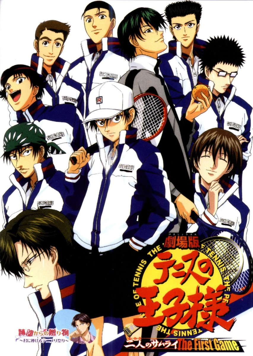Ryoma Echizen with other characters from Prince of Tennis.
