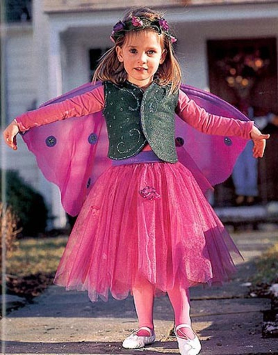 Easy How To Make A Kids Fairy Costume For Halloween