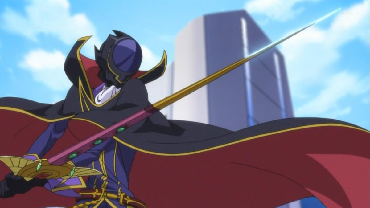 Zero wielding a sword.
