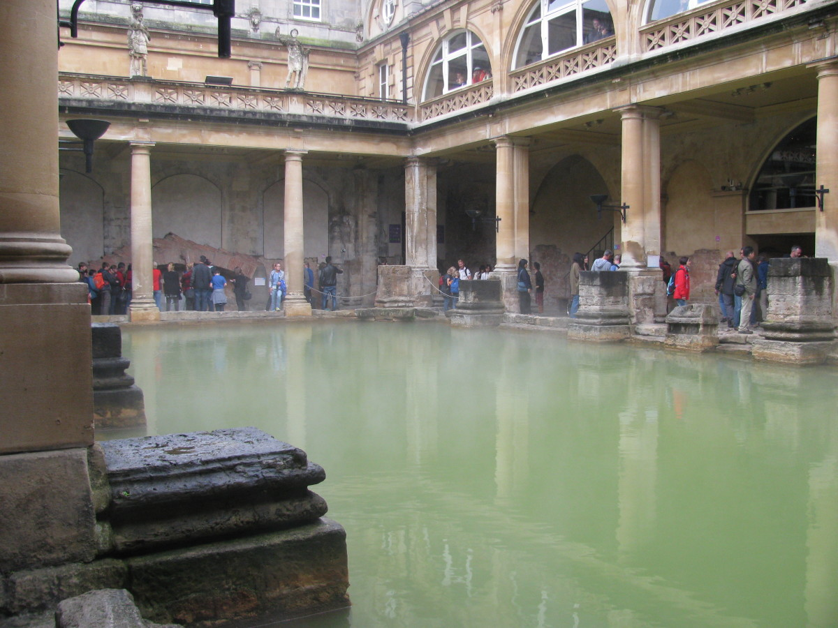 Roman Baths, from which the city of Bath gets its name