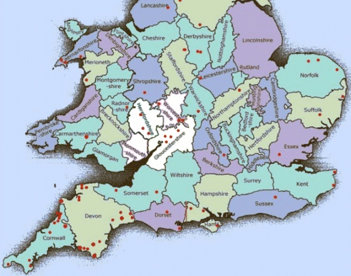 Poems on the Theme of The Counties of England; South-Southwest, Sussex to Devon; Roots and Home; Local Sights
