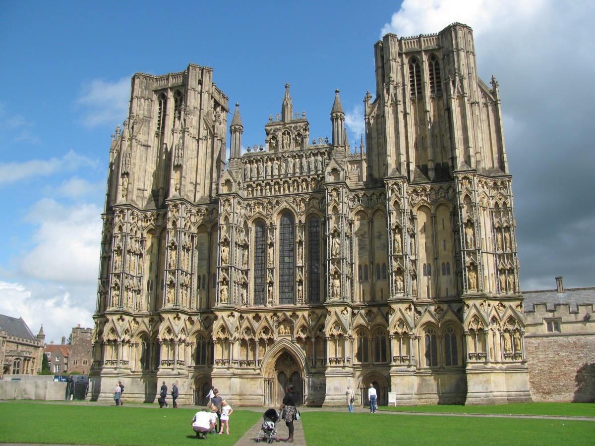Intricate Facade of Wells Cathedral