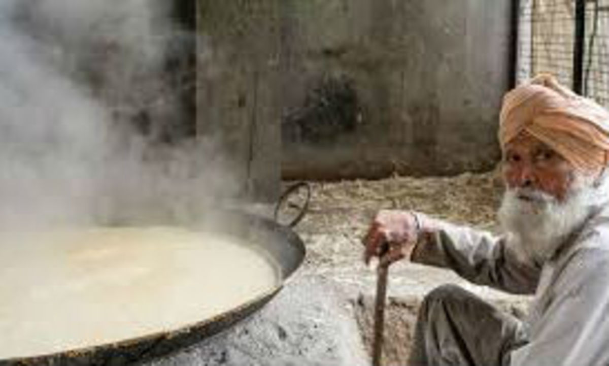Jaggery making