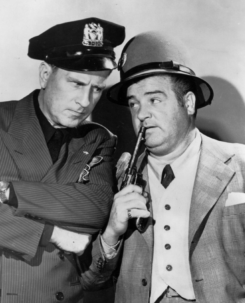 Bud Abbott and Lou Costello, legendary comedy team.