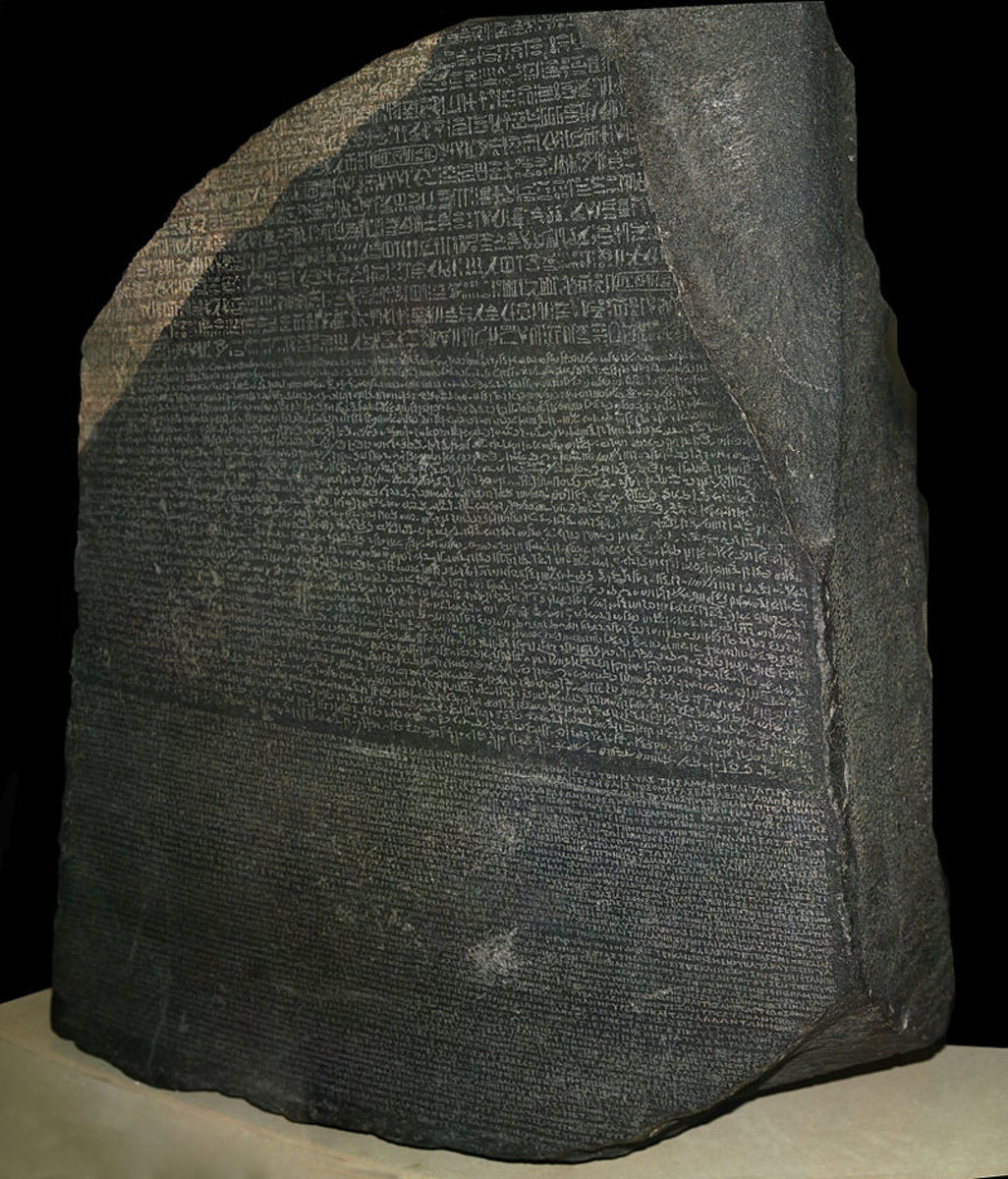 The Rosetta Stone, initially captured by French armies although taken later by the British, would be deciphered by the French and would prove key to the understanding of hieroglyphics.