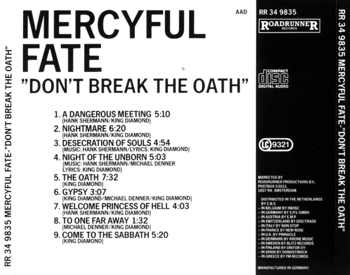"Review of the Album ""Don't Break the Oath"" by Danish Metal Band Mercyful Fate - One of the Best Albums of All Time"