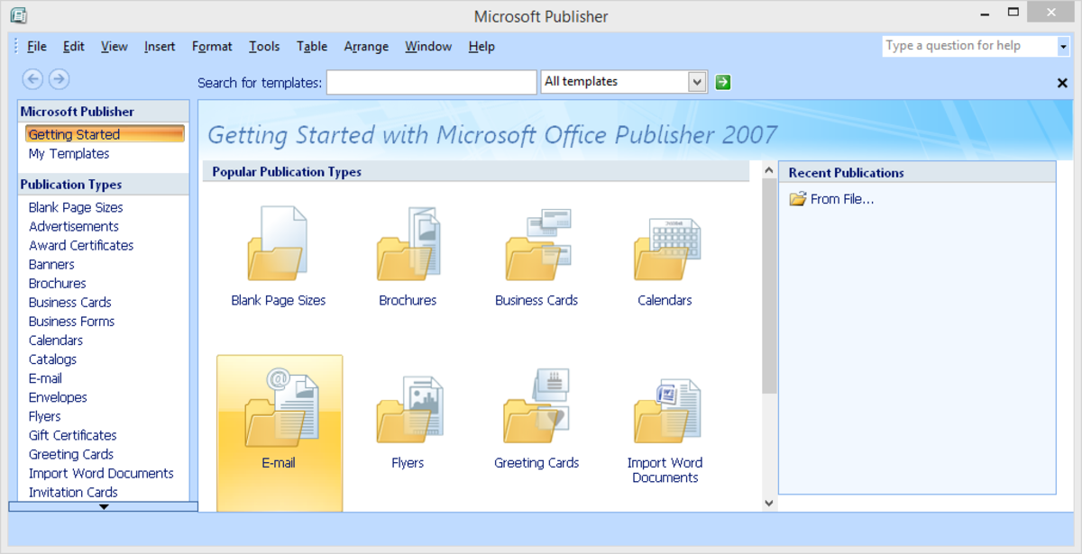 MS Publisher is a DTP application software