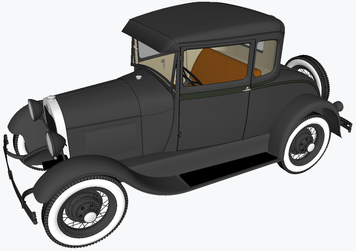 A car drawing using Sketchup