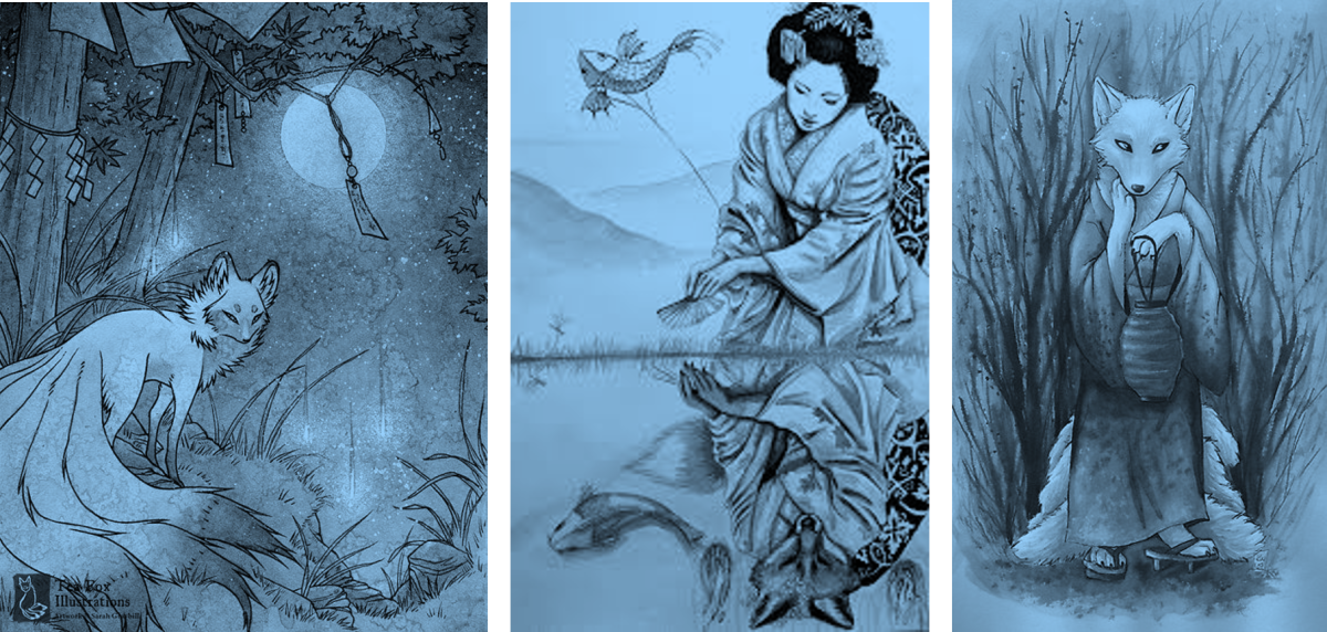 Fox Spirits - Japanese Folklore