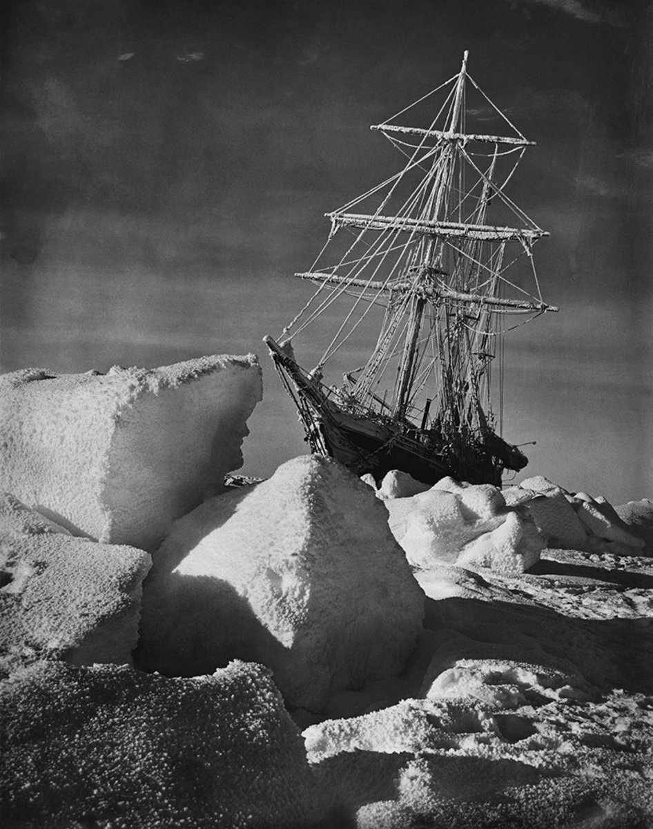 The Endurance Trapped in Pack Ice, taken during the Shackleton Expedition